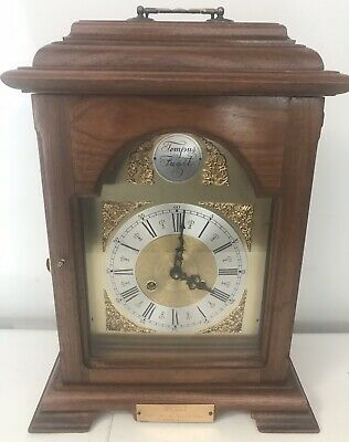 Vintage Tempus Fugit 8 Day Carriage Chime Floating Weight Clock