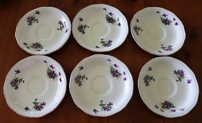 """""""Ridgeway , Lawley England Saucers"""" , Six (6) Of C1930 , Excellent Condition !"""