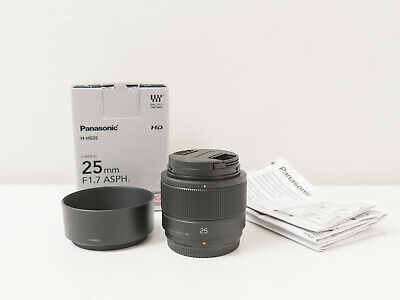 Panasonic 25mm F1.7 ASPH. Lens for Micro 43 Cameras ~As New ~$207 with code