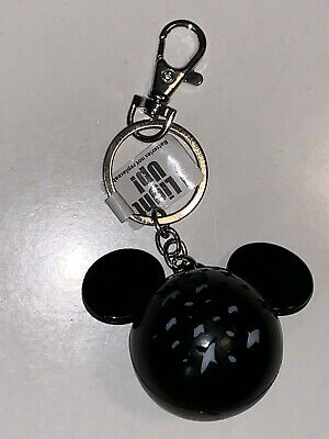 Disney Parks Exclusive Mickey Mouse Head Shape Light Up Keychain New
