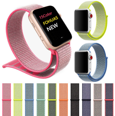 Sport Loop Nylon Woven Band Strap For iWatch Apple Watch Series 1 2 3 4 5