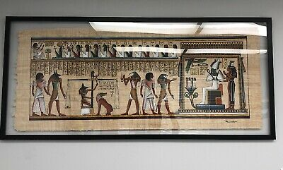 Egyptian The Final Judgment Scene LARGE FRAMED  Papyrus