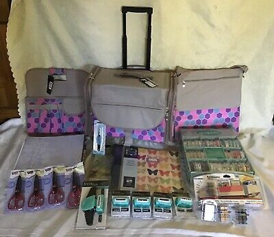 Francheville Scrapbooking trolley set + Albums &12x12 assorted papers and more