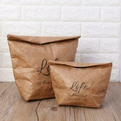 Kraft Paper Snack Lunch Bags Reusable Insulated Thermal Merchandise Grocery Bags