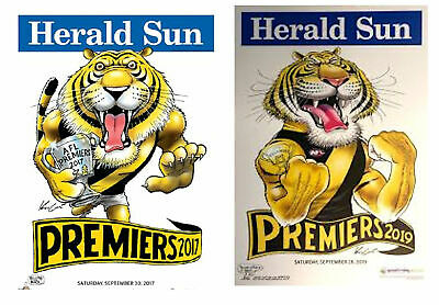 2017 and  2019 Richmond Premiers Herald Knight Premiership Posters