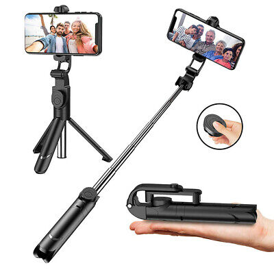 Bluetooth Monopod Tripod Selfie Stick Handheld Shutter Remote For iPhone Samsung
