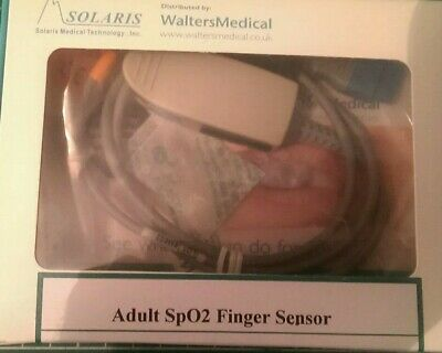 Solaris Adult SpO2 finger sensor for use with GE pulse Oximeters brand new