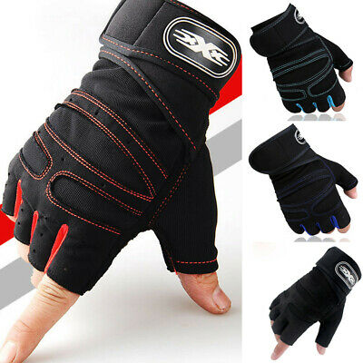 Gym Workout Best Weight Lifting Body Building Training Fitness Glove Half Finger