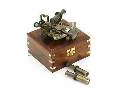 Antique Sextant for Navigation/Marine Brass Sextant Instrument for Ship Nautical
