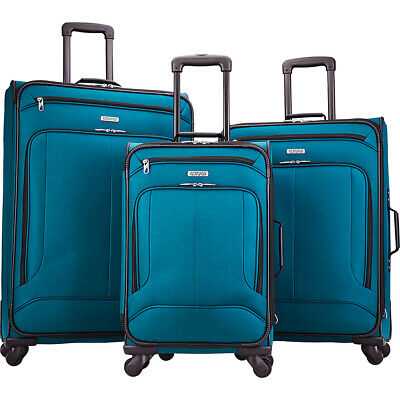 American Tourister Pop Max 3 Piece Expandable Spinner Luggage Set NEW