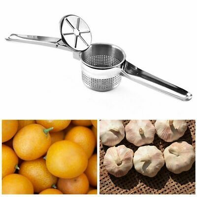 3 in 1 Stainless Steel Potato Masher Ricer Puree Fruit Press Maker Set Item Perf
