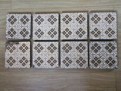 Minton Fireplace Tiles Victorian Set Of 8