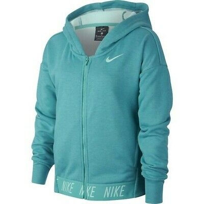 Genuine Nike Girls Studio dri fit Full Zip Hoodie Size XS RRP £40