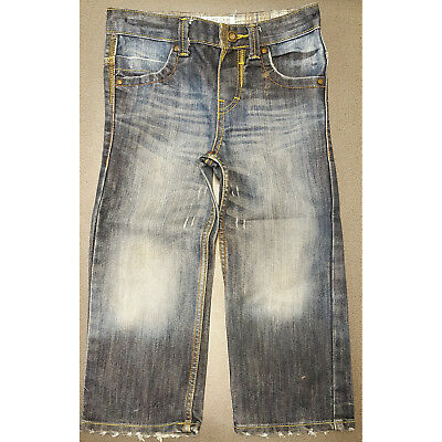 Boys Cherokee Authentic Vintage Fit Blue Jeans Adjustible Waist Faded 4-5 Years