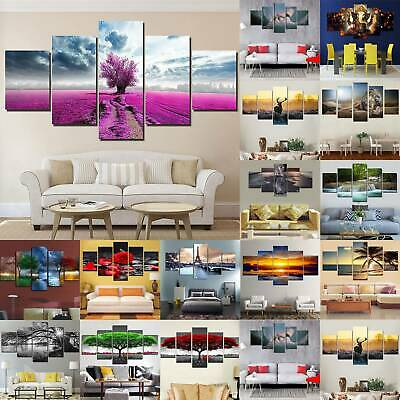 5 Panels Unframed Large Wall Hanging Picture Canvas Oil Printing Art Home Decor