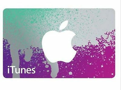 iTunes $25 Gift Card / Collectors/ gift present Purple/Aqua Silver-Orange/Blue