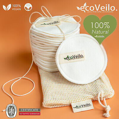 Reusable Bamboo Cotton Make Up Remover Pads Zero Waste Vegan Organic Washable
