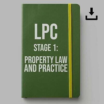 LPC Notes 2019 | University of Law Stage 1 PLP Notes | Distinction Level