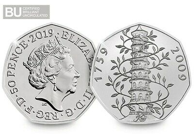 2019 Kew Gardens 50p Brilliant Uncirculated BUNC BU Rare Certified brand New