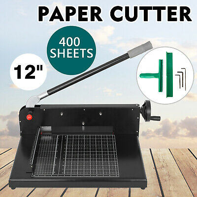 "12"" Width Guillotine Paper Cutter Heavy Duty Stack Paper Trimmer Powder Coating"