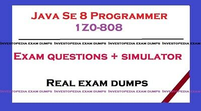1Z0-808 Oracle Java SE 8 Programmer  Exam dump Q&A and simulator