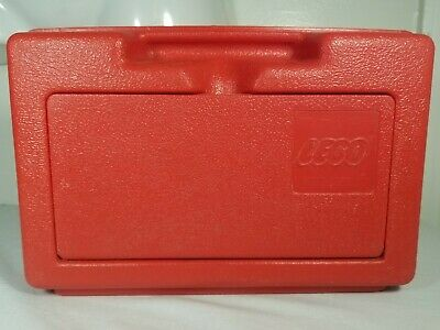 Vintage Lego Storage Case Container Box 11 X 7 X 3.5 Flip Top 1982 Red