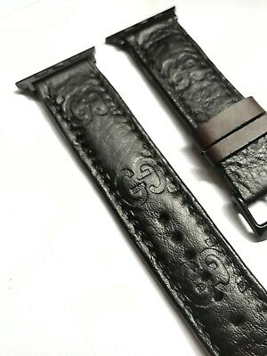 Brown Gucci Guccissima Apple Watch Band  Leather Strap 38mm/40mm 42mm/44mm