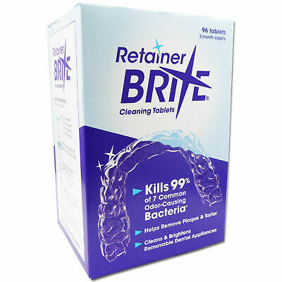 Retainer Brite 96 Cleaning Tablets Remove able Dental Appliances Braces Cleaner