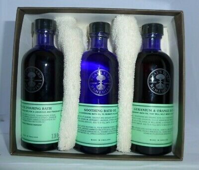Neal's Yard Remedies Foaming, Soothing & Geranium Bath Oil Collection - 3 x100ml