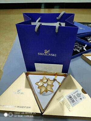 2019 Crystal  GOLD  Swarovski ANNUAL EDITION LARGE CHRISTMAS ORNAMENT 5429596
