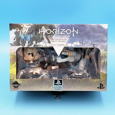 "Horizon Zero Dawn Aloy and Thunderjaw Vinyl Figure Set 4"" NIB Official Sony"