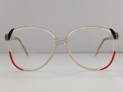 Women's Vintage Spectacle Frame Navy / White / Red Never Worn - Last One!