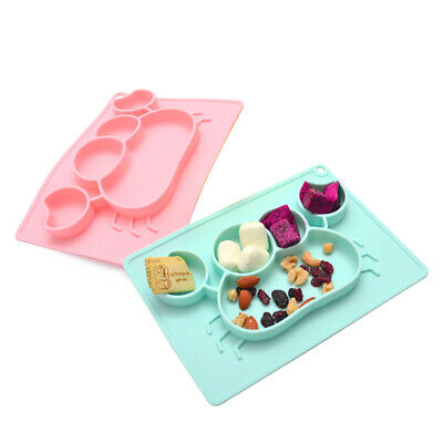 Baby Silicone Snack Mat Toddler Placemat Kids Children Suction Table Food Tray