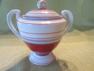 Vintage 1950s/1960s Hand Painted Ceramic Sugar Bowl from Japan