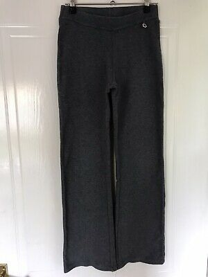 Next Grey Soft Cotton Trousers, Elasticated Waist Age 12 RRP £11