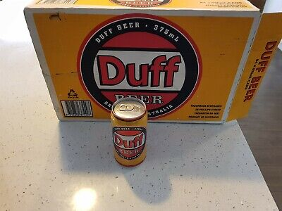 Duff Beer ( The Simpsons ) Carton  (Not Suitable For Drinking) EMPTY BOX 1 x can