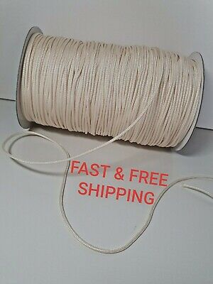 2 Mm Venetian Blind Cord Smooth Cream / Ivory Polyester Strong Pull String