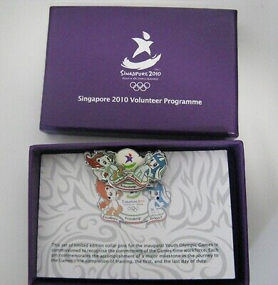 Olympic youth games 2010 Singapore Volunteer official pin badge