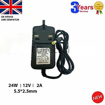 To Fit 12V Kids CARS Power Adapter Charger PLUG UK Mains 12V 2A AC//DC TT CARS
