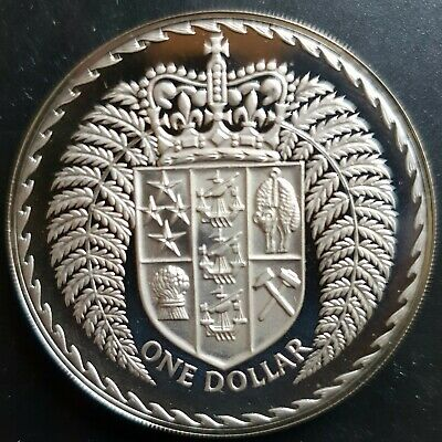 1972 New Zealand Dollar $1 Proof (in New 2x2).....