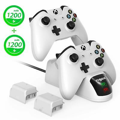 Vogek Xbox One Charging Dock Xbox One Wireless Controller Charger With 2 × 1200