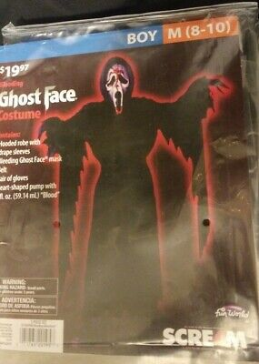 Scream 4 Boy/'s Classic Ghost Face Halloween Costume Child One Size up to 12 #R23