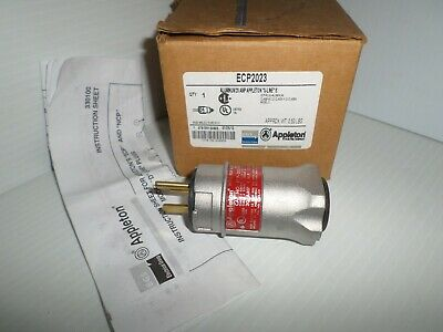 *NEW*APPLETON ECP2023 20A EXPLOSION PROOF PLUG 125V Mates W/EFSR2023 RECEPTACLE