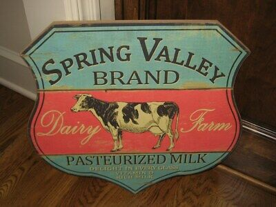 Dairy Milk COW Wall SIGN*Primitive Home*French Country Kitchen Farmhouse Decor