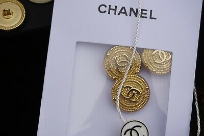 ❤💖💗CHANEL  Buttons lot of 6 Logo CC gold tone 0,8 inch 20 mm