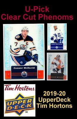 2019-20 UD TIM HORTONS 🍁🍁 CLEAR CUT PHENOMS 🍁🍁 U-Pick 🍁 Complete Your Set