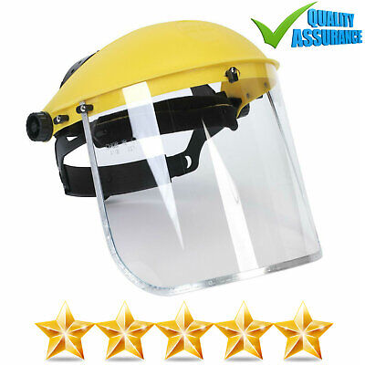 New High Vis Clear Visor Face Shield Eye Protection Mask Guard Safety Work Wear