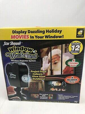Star Shower Window Wonderland Projector System 6 Halloween 6 Christmas Movies