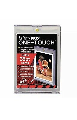 10 ULTRA PRO One Touch Magnetic Holders 35pt UV Gold Magnet 35 pt point