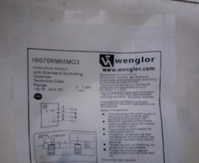 1PC New In Box WENGLOR IW070RM65MG3 Proximity Switch